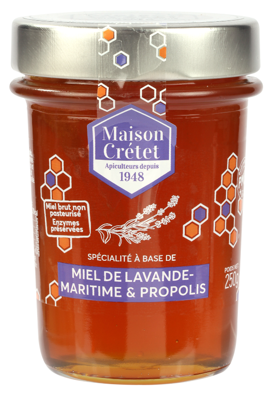 miel enrichis miel lavande propolis 250g