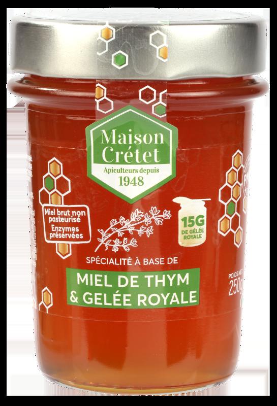 miel enrichis miel thym gelée royale 250g
