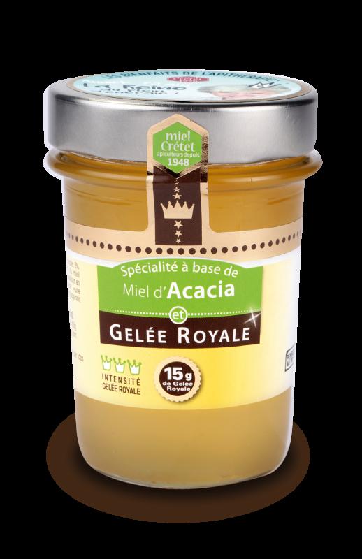 miels enrichis gelee royale acacia