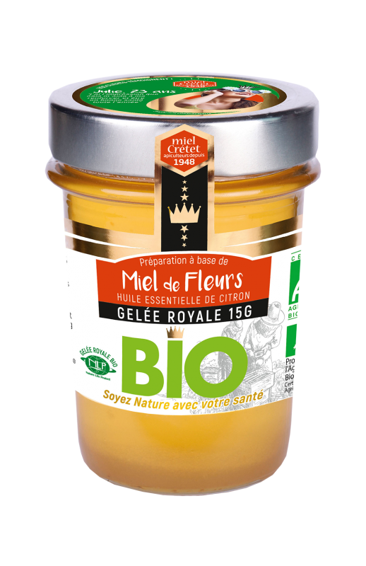 miels enrichis gelee royale fleurs bio
