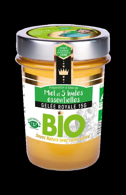 miels enrichis gelee royale huiles essentielles bio