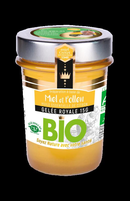 miels enrichis gelee royale pollen bio