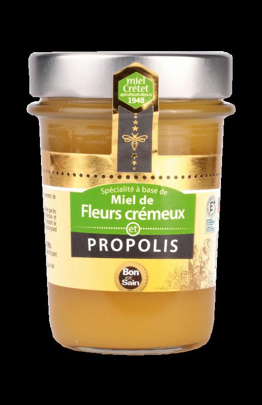 miels enrichis propolis fleurs cremeux