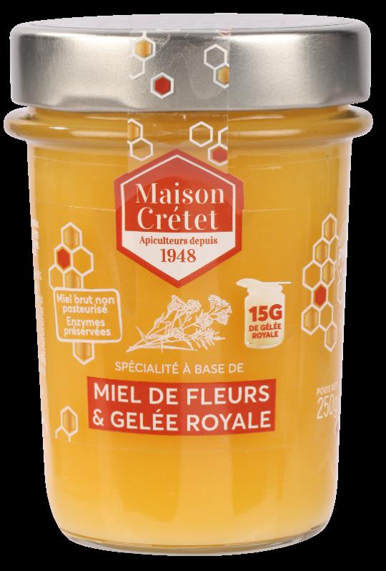 miels enrichis miel fleurs gelée royale 250g
