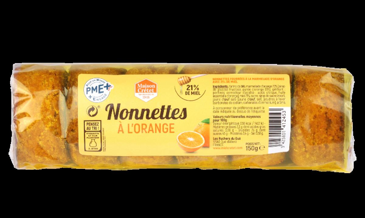 tradition nonnettes miel fourrées orange 150g